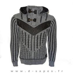 Pull en laine  a capuche fouré Black Soul pour homme ados mode hiver 2015