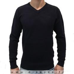 Pull pour homme avec col v couleur gris petit prix 19.90 €