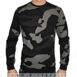 Sweat fin pour homme avec imprimé camouflage derniére tendance de la mode 2016 col rond sous pull
