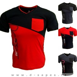 T-Shirt homme et ado de la marque Blue Soul matière élasthanne différente couleurs rouge / violet / bleu / ... 10 euros